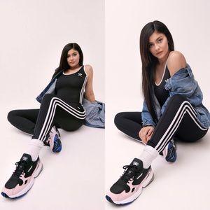 Adidas White & Black 3-Stripes Bodysuit XS